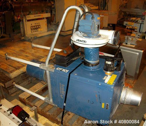 Used- Nederman Filterbox Self-Contained Single Cartridge Dust Collector, 139 square feet filter area, model 663, carbon stee...