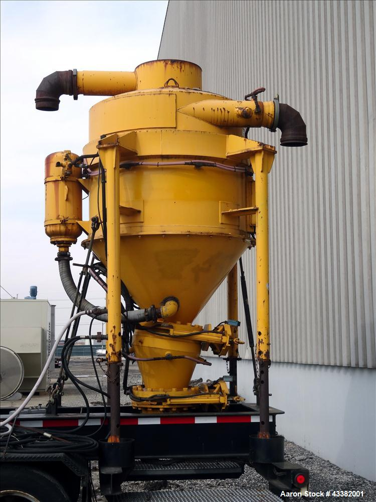 Used- Heavy-Duty Trailer Mounted Vacuum Loader for pneumatic removal of virtually any dry materials, sludges and liquids fro...