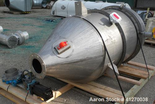 Used- Cartridge Type Pulse Jet Dust Collector, approximately 420 square feet filter area, 304 stainless steel. Housing measu...