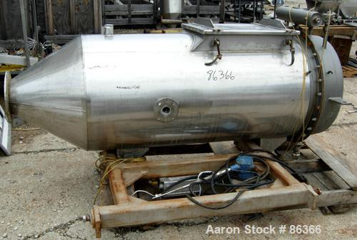 """USED- Pulse Jet Dust Collector, 304 Stainless Steel, approximate 25 square feet filter area. Housing measures 30"""" diameter x..."""