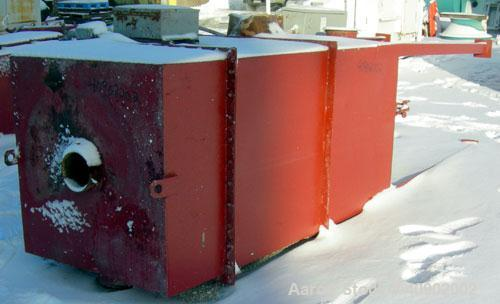 "Used- Pulse Jet Dust Collector, approximately 160 square feet filter area. Carbon steel housing measures 40"" x 40"" x 70"" str..."