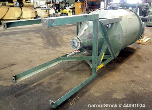 "Used- Pulse Jet Dust Collector, Carbon Steel. Approximately 275 square feet filter area. Housing measures 54"" diameter x 72""..."