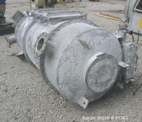 """USED: Pulse jet dust collector, 304 stainless steel, approximately 100 square foot filter area. Housing measures 36"""" diamete..."""