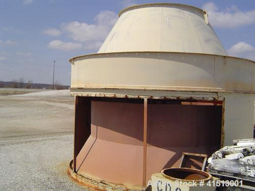 Used-Pneumafil 59,963 cfm, model RAFIL 13.5-460-12, dust filter with 15 hp reverse air blower. 1/3 hp motor drive, reverse a...