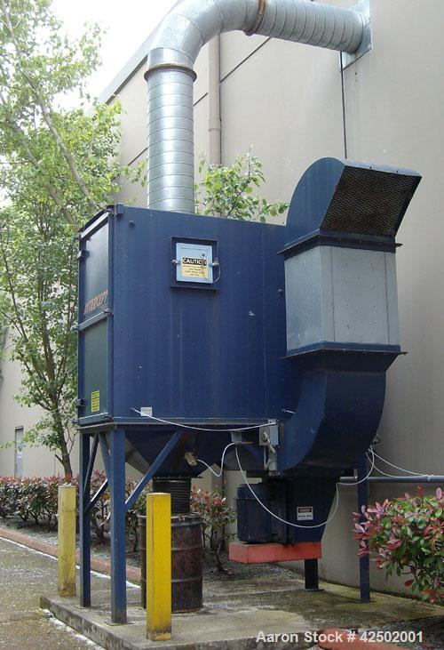 Used-Polairs 25 hp Cartridge Dust Collector, model 3PC12, voltage 460/3/60. Includes control panel, 55 gallon barrel, silenc...