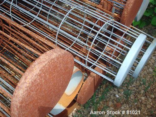 """USED:Schick pulse jet dust collector, model 84HV46, carbon steel.(46) 5"""" diameter x 84"""" long cages providing 420 sq ft filte..."""