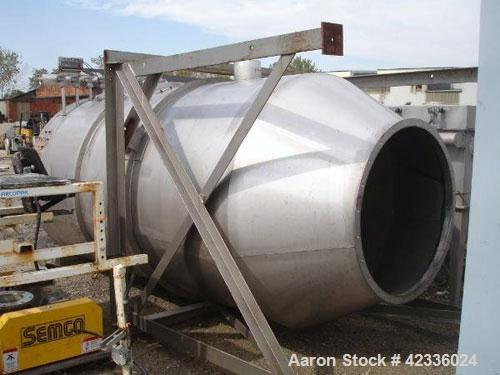 """Used- Semco Dust Collector, Model VF-F-6-0-580, Stainless Steel. 628 Square feet surface area with (79) 4.5"""" diameter x 6' l..."""