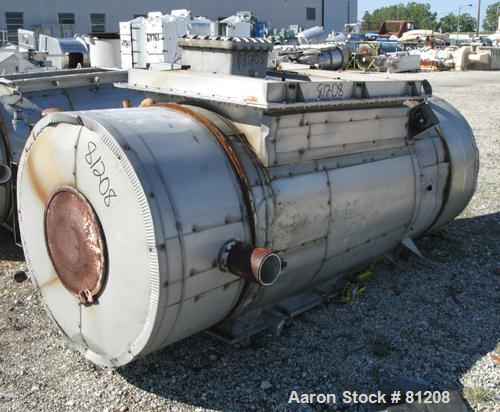 USED: Shick high vacuum pulse jet dust collector. 301 stainless steel, model 58HV14, 102 square foot filter area. Housing me...