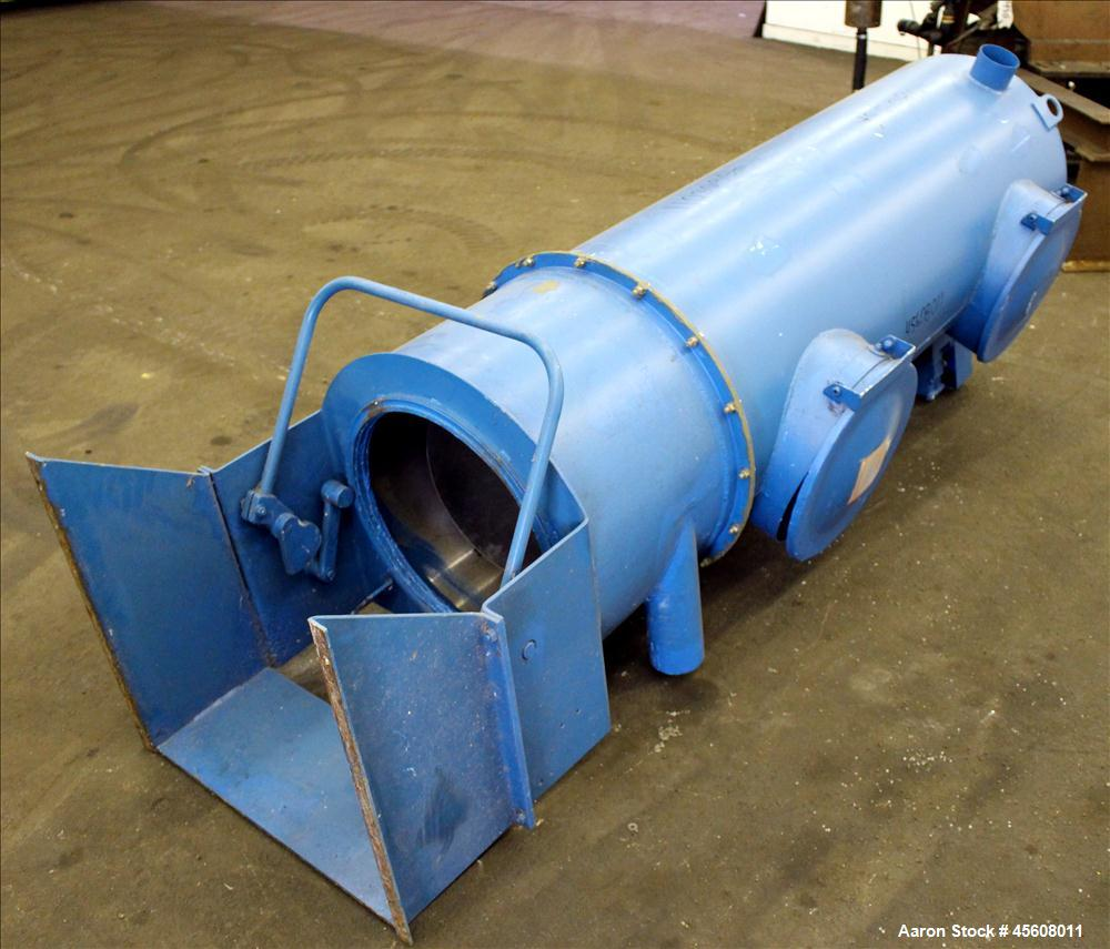"""Used- Spencer Tubular Bag Separator, 24"""" Diameter, Carbon Steel. Requires (10) bags, approximately 53 square feet filter are..."""