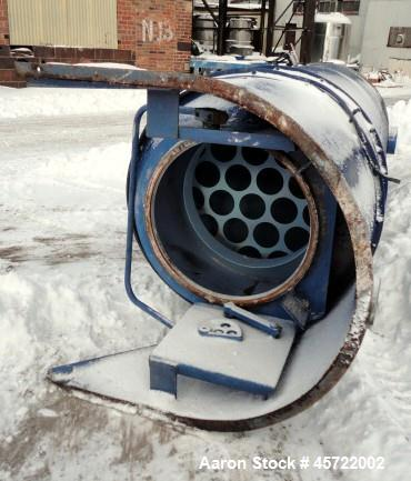 """Used- Spencer Tubular Dust Collector System, 252 Square Feet, Carbon Steel. 42"""" Diameter with collection bin, type 30104C1. ..."""
