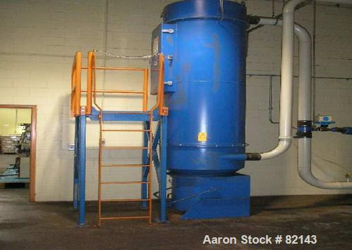 USED: Spencer Central Vacuum System, carbon steel, consisting of (1) Jet Clean separator, approximately 500 cfm, driven by a...