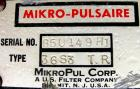 USED: Mikro Pulsaire pulse jet dust collector, model 36S3TR, 304 stainless steel, approximate 140 square feet filter area. H...