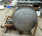 USED- Pulse Jet Dust Collector, 304 Stainless Steel, approximate 25 square feet filter area. Housing measures 30