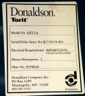 Used-Torit Downflo II Cartridge Type Pulse Jet Dust Collector, model DFT3-6, carbon steel. 1140 square feet filter area, nom...