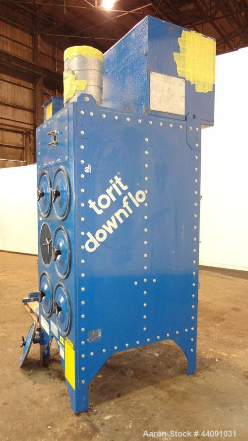 Used- Torit Downflo Cartridge Type Dust Collector, Model 3DF6, 1356 Square Feet Filter Area, Carbon Steel. Approximately 270...