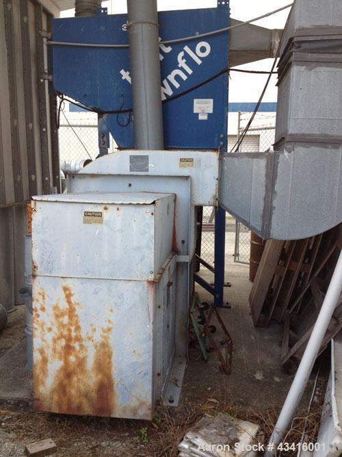 Used-Torit Down Flo Dust Collector, Model DF T2-8.  Includes Harzell fan, model 054229MH03, 4,000 cfl.