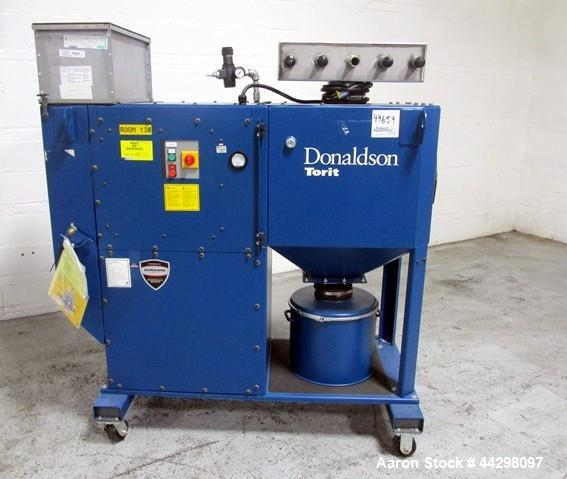 Used- Donaldson Torit Downflo Oval Dust Collector, Model DFO1-1. 190 Square feet filter area, 115/230 volt, 1.5hp motor, ser...