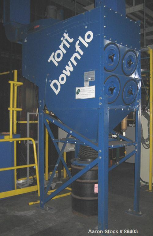 USED: Torit downflo cartridge type dust collector, model DFT2-8, 1,520 square feet filter area, air flow 1,020 - 6,300 CFM r...