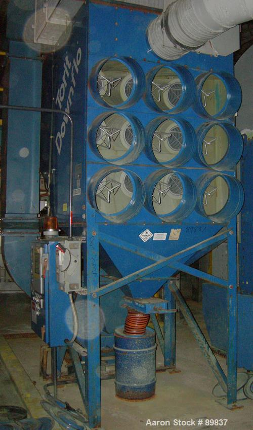 USED: Torit dust collector, model DFT3-18. 9 cartridge, reverse pulse jete. 3,420 square feet filter area, airflow cfm appro...