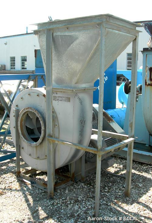Used- Torit/Tafa Cartridge Type Pulse Jet Dust Collector, Model TCF448. 9120 Square feet filter area, carbon steel. Nominal ...