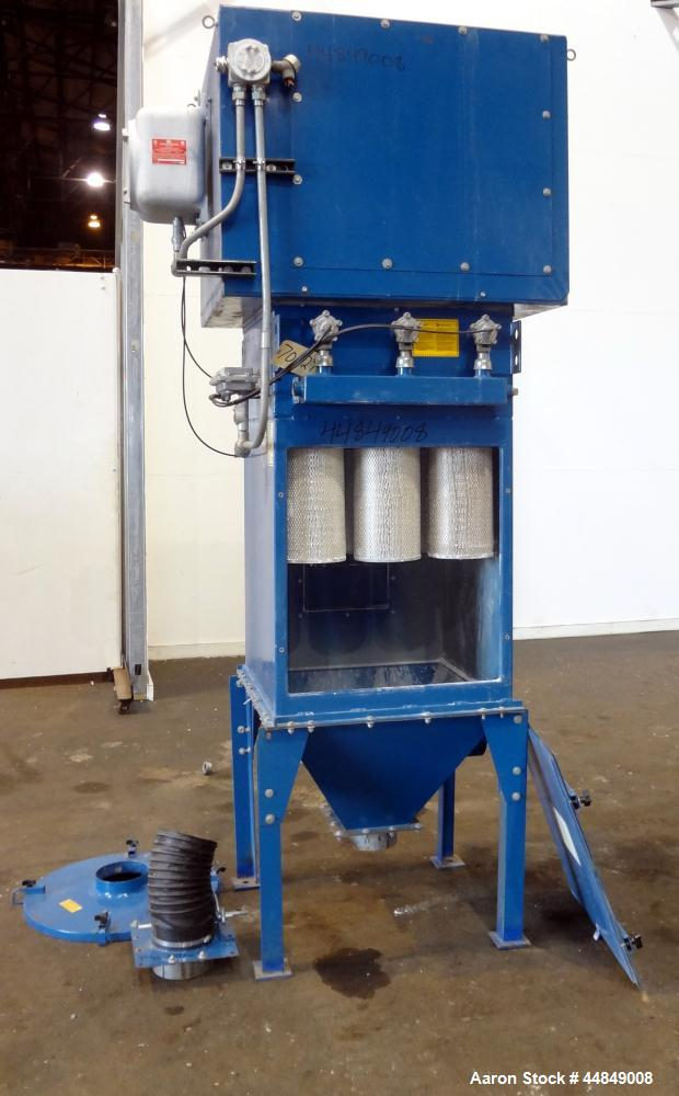 Used- Torit Cartridge Type Pulse Jet Dust Collector, Model TD-486, Carbon Steel. Approximately  540 square feet filter area,...