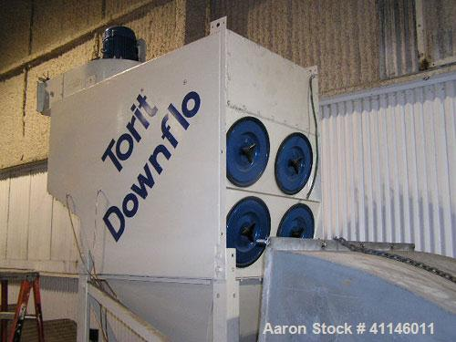 Used- Torit Down-Flo Dust Collector. Top mounted 10 hp blower.