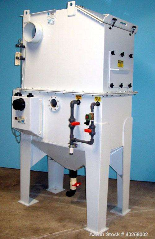Used- Tri-Mer Whirl Wet Model 18HWW 1600 CFM Dust Collector. (2) 9'' Diameter side ports, (2) 18'' wide x 15'' high side acc...