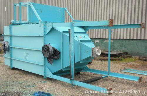 Used- Ultra Industries Pulse Jet Dust Collector, Model SQ-100-8-IIIG, 942 Square Feet Filter Area, Carbon Steel. Housing mea...
