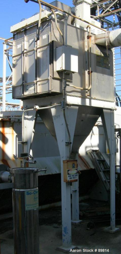 USED: W W Sly dust collector, model PACTECON. Stainless steel construction, reverse pulse jet. Mounted on 4 legs. Includes b...
