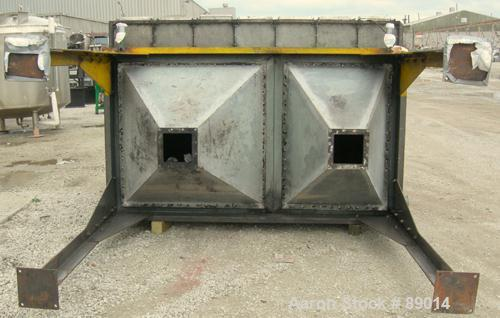 Used- W.W. Sly Mfg Pactecon pulse jet dust collector, model PC-107-4. Carbon steel, approximately 622 square feet filter are...