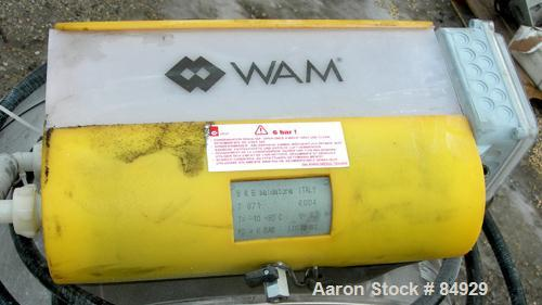 USED: WAM Cartridge Type Ppulse Jet Dust Collector, model FC3J20VEO1612. Approximately 200 square feet filter area, 304 stai...