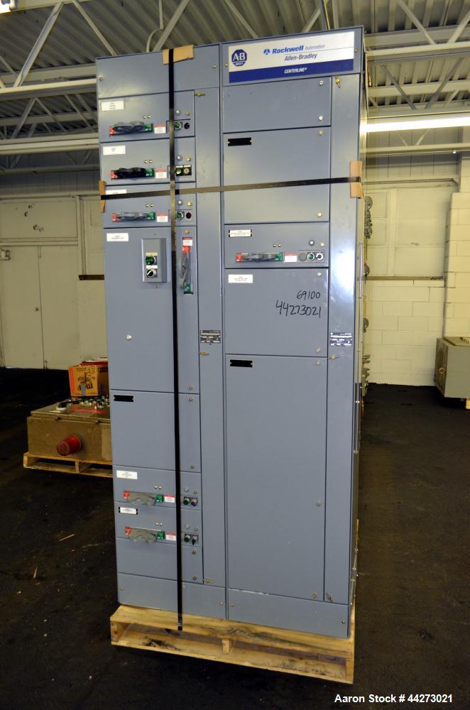 Used-Allen Bradley Centerline MCC 480 volt, 14 Section Motor Control Center