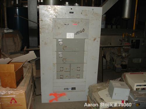 USED: Westinghouse fused panelboard, 600 amp, 208 volt, (4) 100 amp,3 phase, (2) 200 amp.