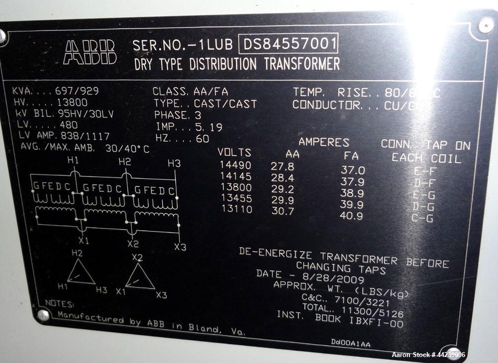 ABB Dry Type Distribution Cast Coil Transformer