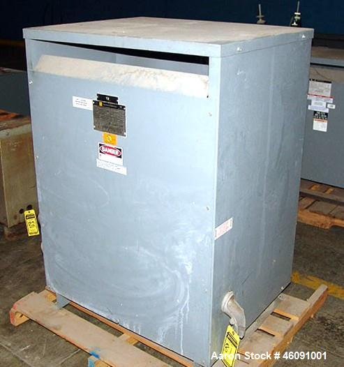 Used- Square D Tranformer, CAT. NO. 225T3HCU, 225-KVA, 3-PH, HV: 480, 270-AMPS, LV: 208Y/120, 625-AMPS, Approximately 1,300 ...