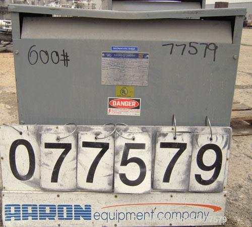 Used- Square D 63 KVA Transformer, Style 34244-44112-002. High/Low Volt 460.