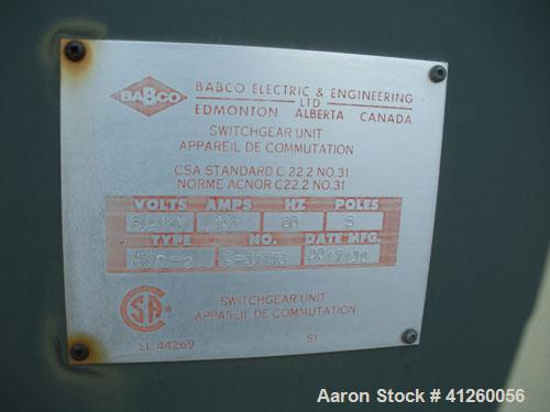 Used-Ferranti Packaged Transformer, oil filled with transfer switch.