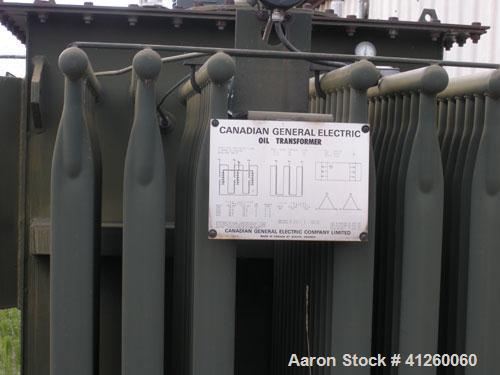 Used-General Electric Transformer, 1000/1120 KVA, 55/65 deg C-ONS, 3/60.  6900-480 volts