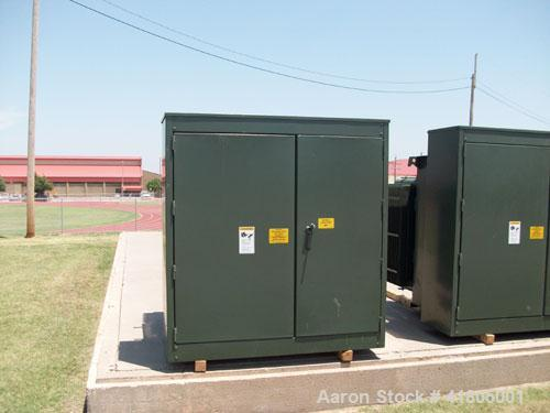 Used-GE 1000 KVA Three Phase Padmount Transformer. HV: 13200 GRDY / 7620LV-208Y/120. 65 deg C rise, 60 hertz. 2-2.5% above a...