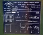 Used- Solomon Corporation Three Phase Padmount Transformer. 500 KVA. 3/60 HZ. Rise 65 deg.c.., class OA. High voltage 13200 ...