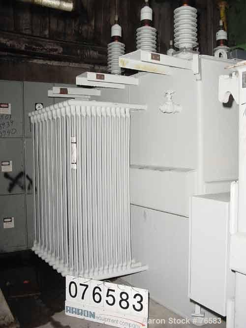 Unused-UNUSED: ABB transformer, 3 phase, 46,000 HV volts, 26,000/15011 LV volts, 60 hertz, oil insulated substation transfor...