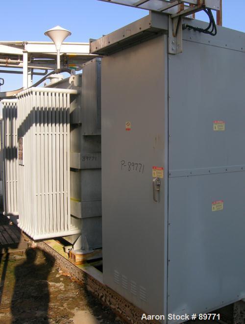 USED: Allis Chalmers transformer. 2000 kva, class MCS OA. 3/60, 13,200 volts HWDG, 2400 volts XWDG. H winding 110 kv, X wind...