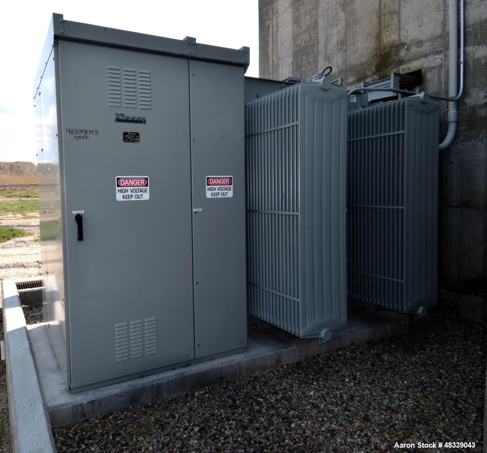 Used- Cooper Power Systems 3 Phase Transformer.