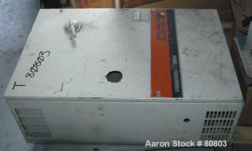 USED: Reliance Electric drive panel 15 hp, DC drive, 480 input volts.