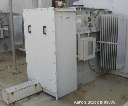 USED: Square D transformer, 1000 kva. Class OA-FA, 3/60. HV 12,470 delta, LV 480Y/277. Built 1991.