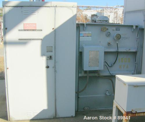 USED: Square D transformer, 1000/1150 kva, Class OA/FA. 3/60, 12,470 delta HV volts, 480Y/277 LV volts.