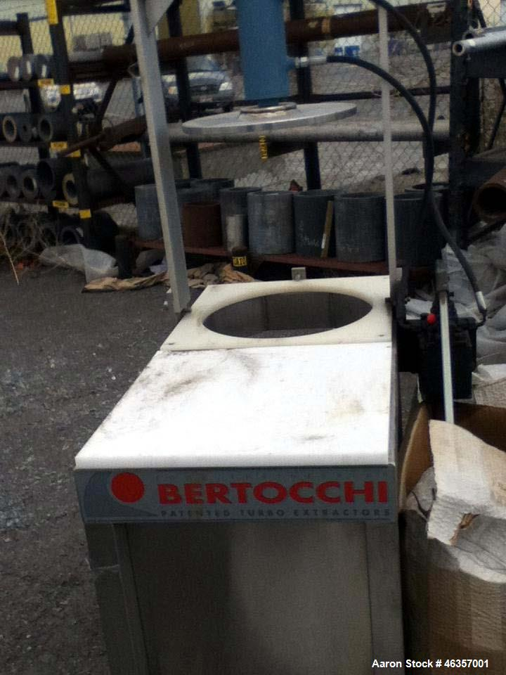 Used- Bertocchi Turbo Juice Extractor, Model VCX-12V. 304 Stainless steel, 85 hp 220/440, 3ph main drive; 47 hp, 220/440, 3p...
