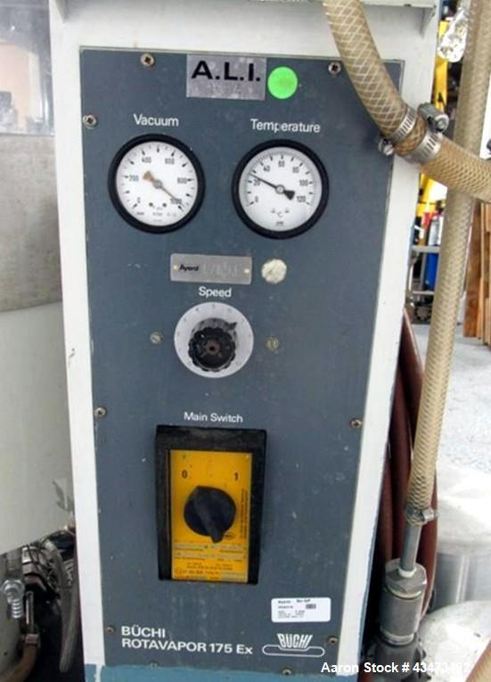 Used- Buchi RotaVap, Model R-175EX1. With heat bath, main glass flask, 1 square meter glass coil condensor, and glass receiv...