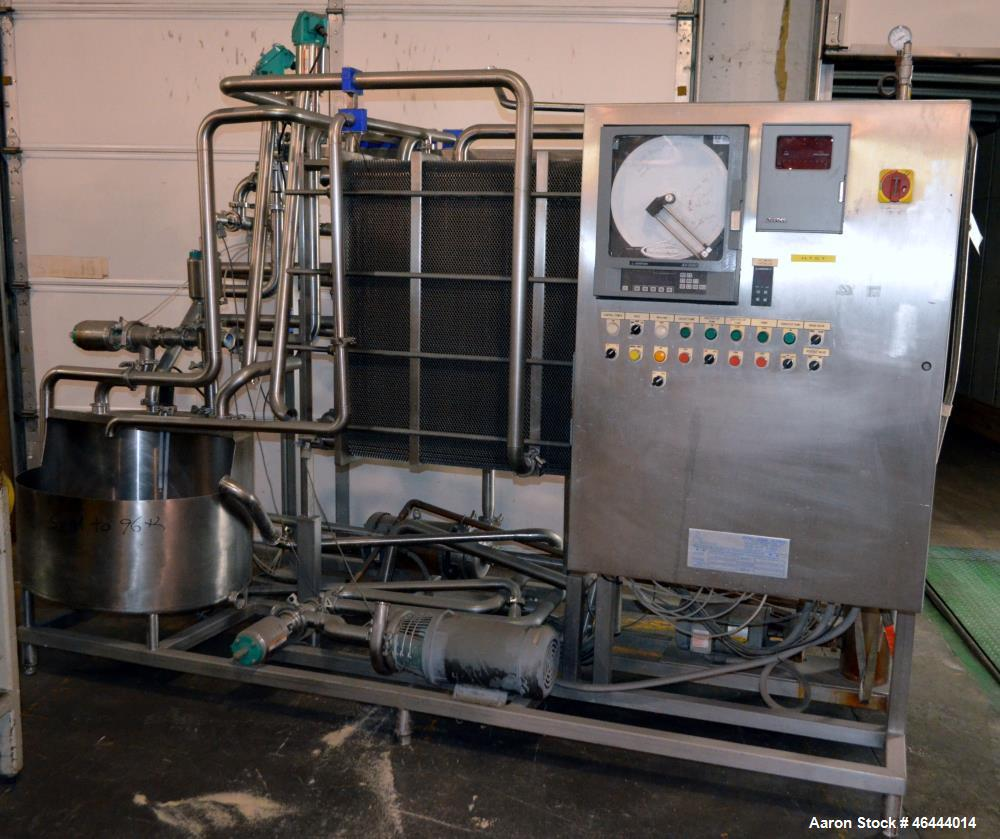 Used- HTST Flash Pasteurazation System Consistin Of: (1) Thermaline Plate heat exchanger, model T20CH, serial# 4100, built 2...