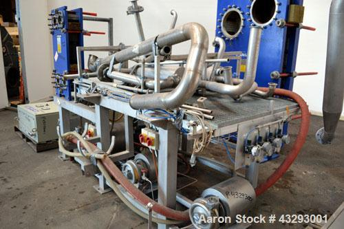 Used- Alfa Laval Steam Operated Single Stage Alfavap System, Type ALFAVAP-1-0011, Rising Film Design. Consisitng of: (1) Alf...
